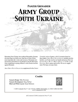 Army Group South Ukraine boxcover