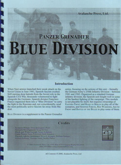 Blue Division boxcover