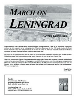 March on Leningrad boxcover