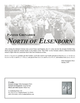 North of Elsenborn boxcover
