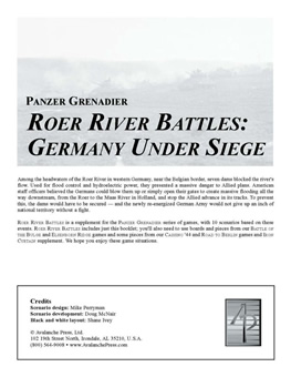 Roer River Battles boxcover