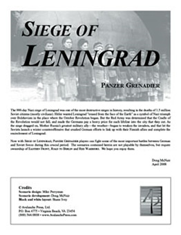 Siege of Leningrad boxcover
