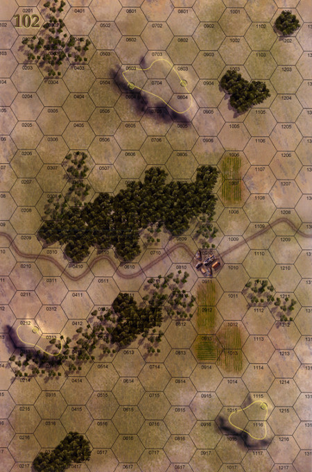 Panzer Grenadier Headquarters Library Map: 102 for Panzer Grenadier game series