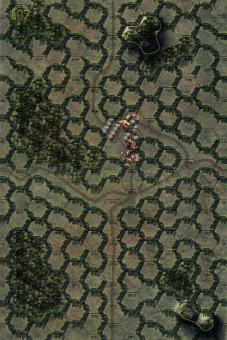 Panzer Grenadier Headquarters Library Map: 107 for Panzer Grenadier game series