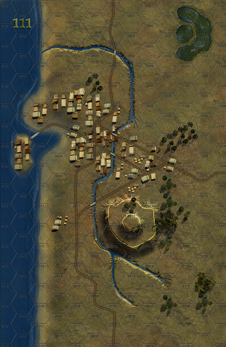 Panzer Grenadier Headquarters Library Map: 111 for Panzer Grenadier game series