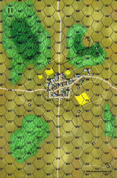 Panzer Grenadier Headquarters Library Map: 11 for Panzer Grenadier game series