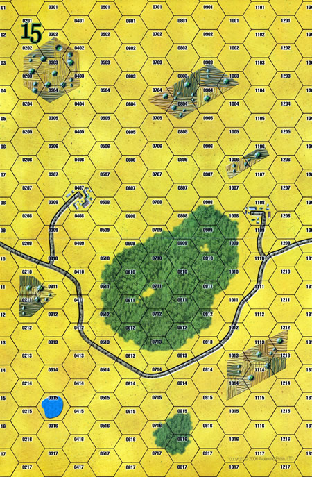 Panzer Grenadier Headquarters Library Map: 15 for Panzer Grenadier game series