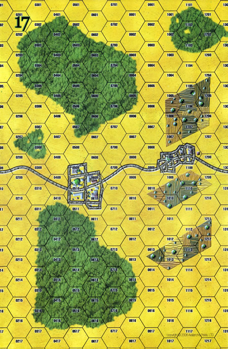 Panzer Grenadier Headquarters Library Map: 17 for Panzer Grenadier game series