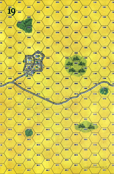 Panzer Grenadier Headquarters Library Map: 19 for Panzer Grenadier game series