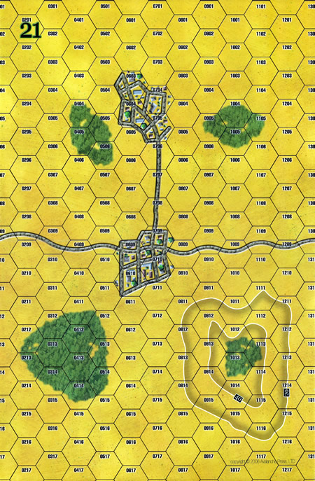 Panzer Grenadier Headquarters Library Map: 21 for Panzer Grenadier game series