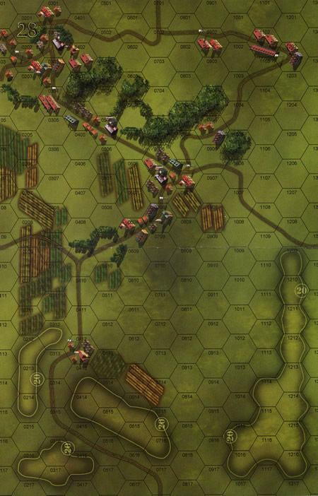Panzer Grenadier Headquarters Library Map: 28 for Panzer Grenadier game series