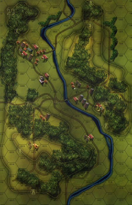 Panzer Grenadier Headquarters Library Map: 29 for Panzer Grenadier game series