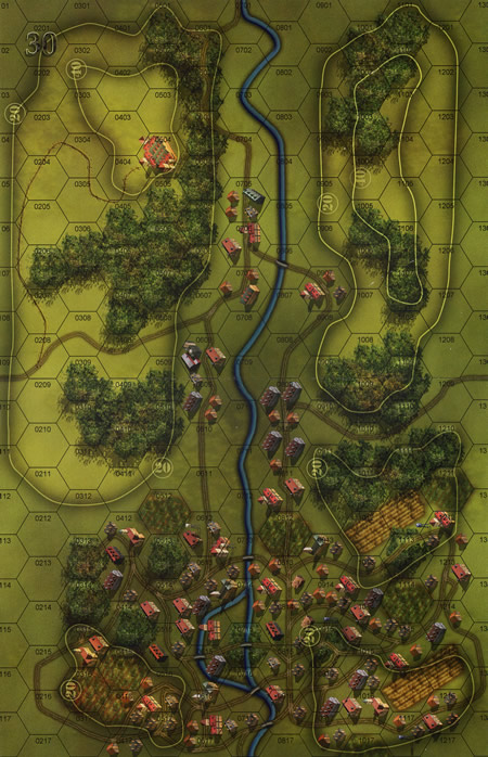 Panzer Grenadier Headquarters Library Map: 30 for Panzer Grenadier game series