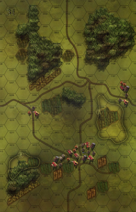 Panzer Grenadier Headquarters Library Map: 31 for Panzer Grenadier game series