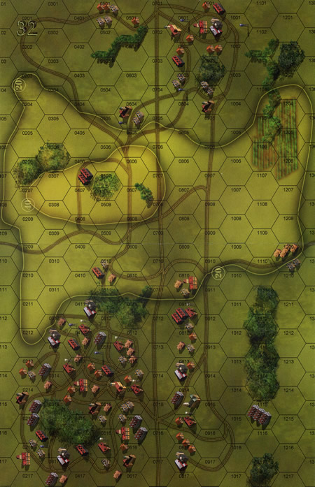 Panzer Grenadier Headquarters Library Map: 32 for Panzer Grenadier game series