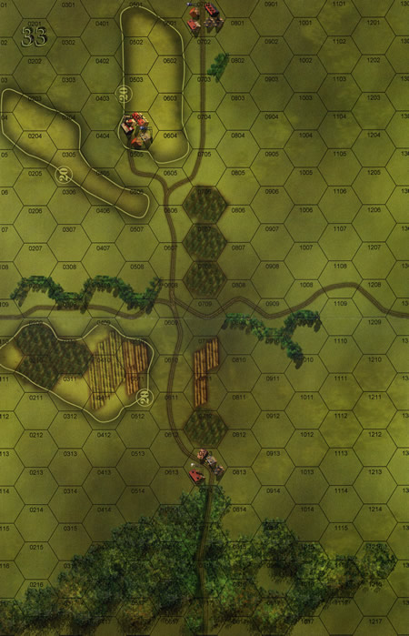 Panzer Grenadier Headquarters Library Map: 33 for Panzer Grenadier game series