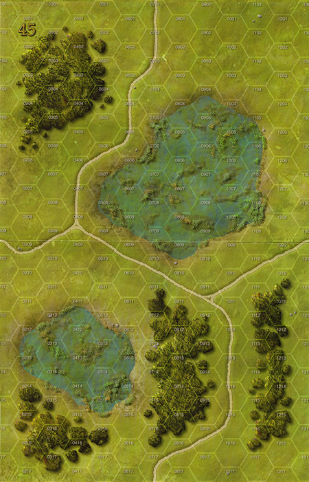 Panzer Grenadier Headquarters Library Map: 45 for Panzer Grenadier game series