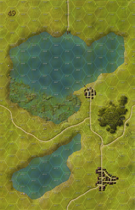 Panzer Grenadier Headquarters Library Map: 49 for Panzer Grenadier game series