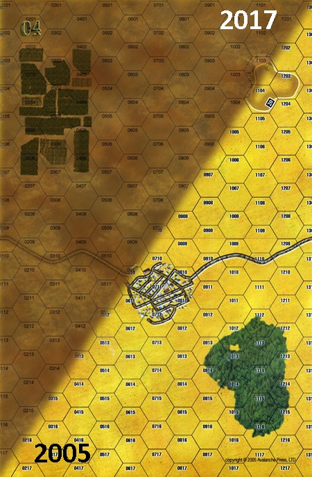 Panzer Grenadier Headquarters Library Map: 4 for Panzer Grenadier game series