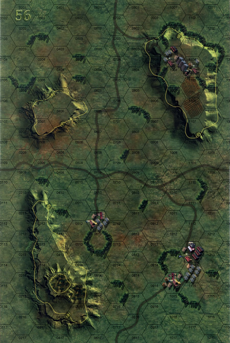 Panzer Grenadier Headquarters Library Map: 56 for Panzer Grenadier game series