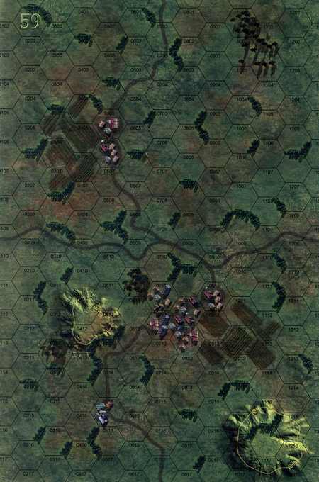 Panzer Grenadier Headquarters Library Map: 59 for Panzer Grenadier game series