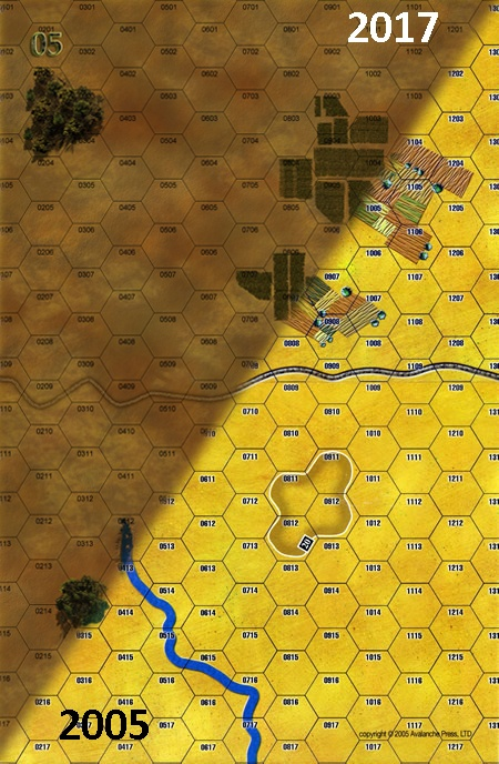 Panzer Grenadier Headquarters Library Map: 5 for Panzer Grenadier game series