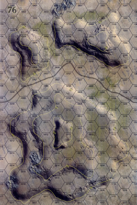 Panzer Grenadier Headquarters Library Map: 76 for Panzer Grenadier game series