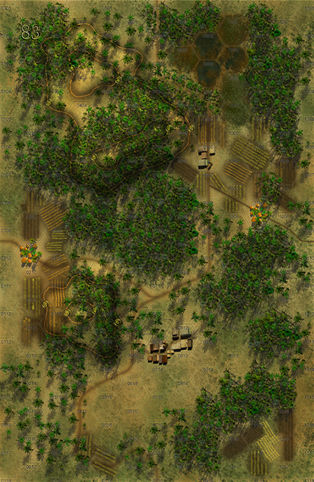 Panzer Grenadier Headquarters Library Map: 83 for Panzer Grenadier game series