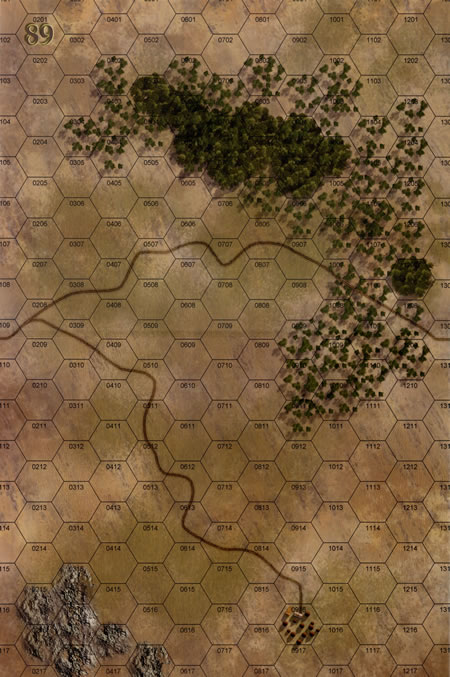 Panzer Grenadier Headquarters Library Map: 89 for Panzer Grenadier game series