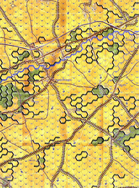 Panzer Grenadier Headquarters Library Map: BN2 for Panzer Grenadier game series