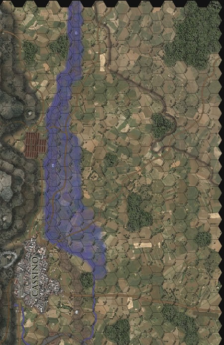 Panzer Grenadier Headquarters Library Map: CassLR for Panzer Grenadier game series