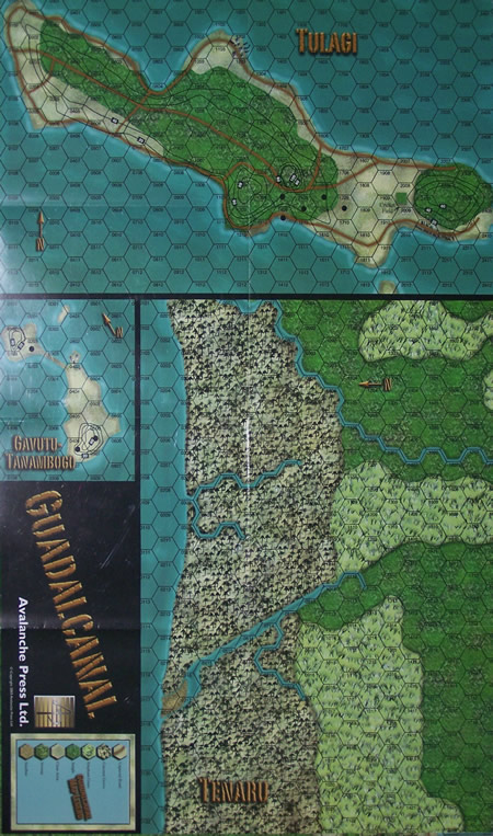 Panzer Grenadier Headquarters Library Map: Guad-TTGT for Panzer Grenadier game series