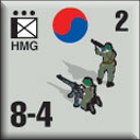 Panzer Grenadier Headquarters Library Unit: South Korea Daehanminguk Yuk-gun HMG for Panzer Grenadier game series
