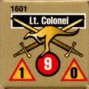 Panzer Grenadier Headquarters Library Unit: Australia Army Lt. Colonel for Panzer Grenadier game series