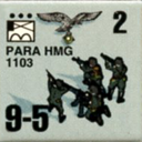 Panzer Grenadier Headquarters Library Unit: Germany Fallschirmjager PARA-HMG for Panzer Grenadier game series