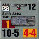 Panzer Grenadier Headquarters Library Unit: Germany Heer Sdkfz-234/3 for Panzer Grenadier game series