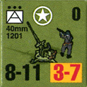 Panzer Grenadier Headquarters Library Unit: United States Army 40mm for Panzer Grenadier game series