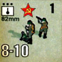 Panzer Grenadier Headquarters Library Unit: Soviet Union Army (RKKA) 82mm for Panzer Grenadier game series