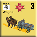 Panzer Grenadier Headquarters Library Unit: Romania Army Wagon for Panzer Grenadier game series